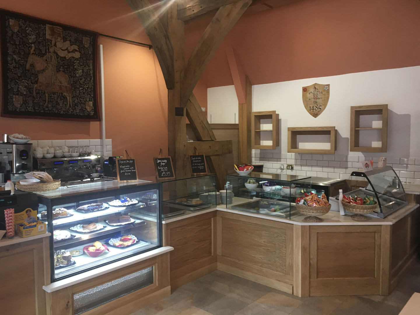 Tithe Barn Restaurant Cafe Counter Simply Coffee Shops